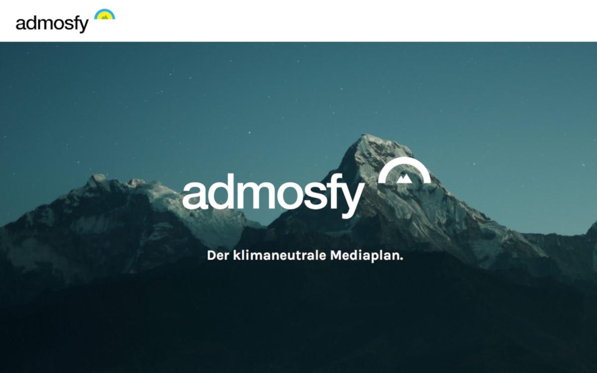 Admosfy ermöglicht klimaneutrale Mediakampagnen (Foto: Screenshot)