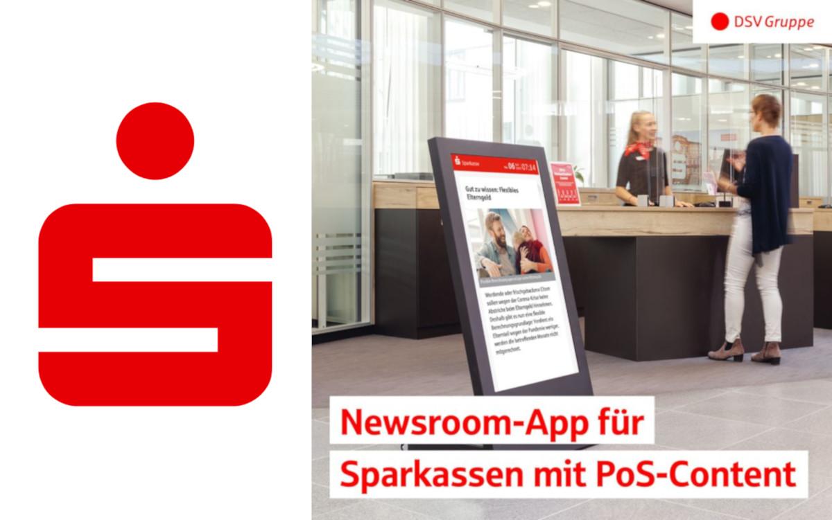 DSV liefert frischen Digital Signage Content für Sparkassen (Foto: DSV)