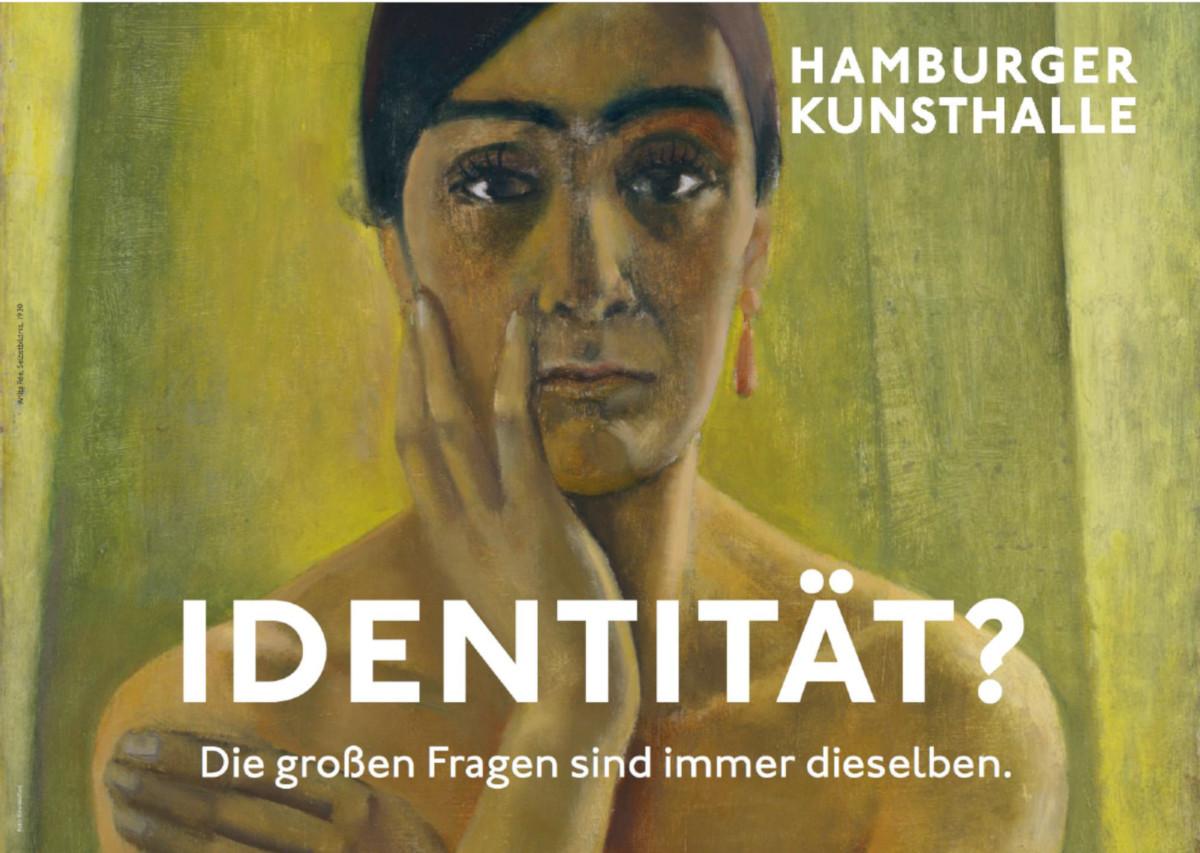 Plakadiva in Silber - Kulturkampagne Lebendiger Jungfernstieg (Foto: Ham. Kunsthalle)