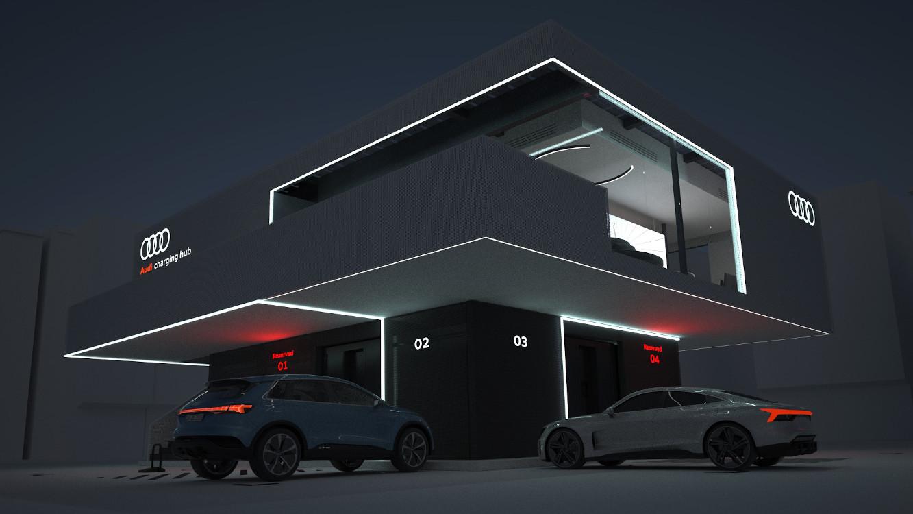 Audi Charging Hub - Tankstelle der Zukunft (Foto: Audi)
