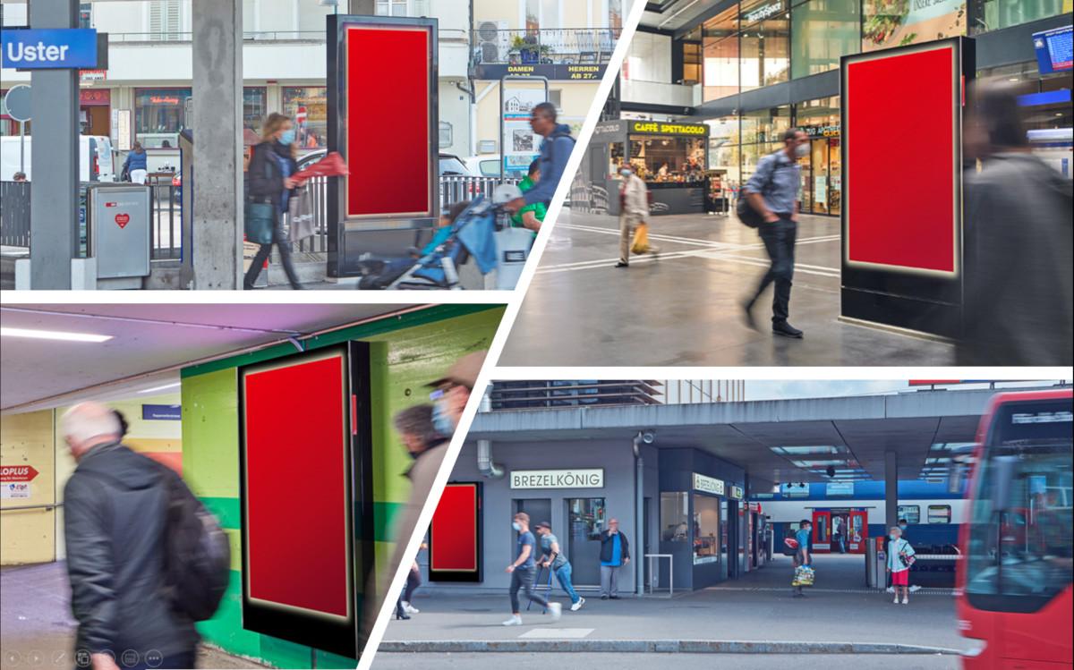 Digitaloffensive der APG an SBB-Bahnhöfe (Fotos: APG)