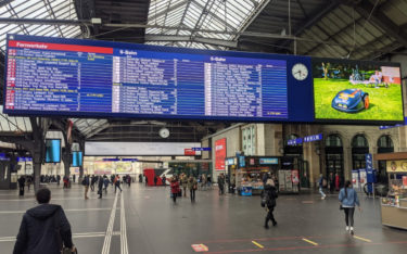 DooH am Hauptbahnhof Zürich - Symbolfoto (Foto: Invidis)