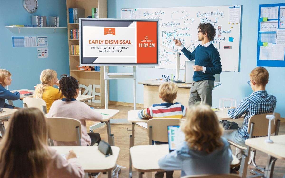 Carousel und ScreenBeam verwandeln Collaboration-Lösungen künftig nach dem Meeting oder der Lehrstunde in Digital Signage (Foto: Carousel/ScreenBeam)