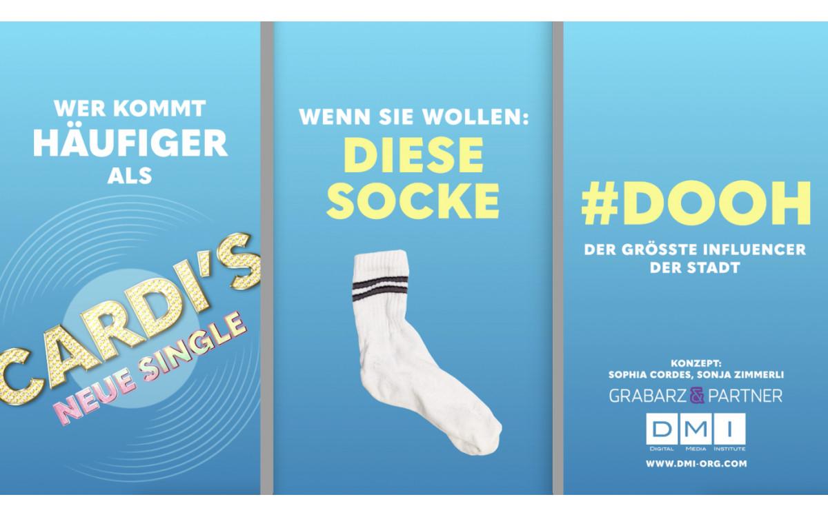 DooH, größer als jeder Influencer – Die Gewinnerkampagne des 'Talents on Screen' Wettbewerbs des DMI (Foto: DMI/Grabarz&Partner)