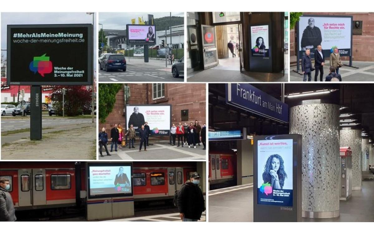 Ströer unterstützt #mehralsmeinemeinung mit einer bundesweiten DooH-Kampagne (Foto: Ströer)