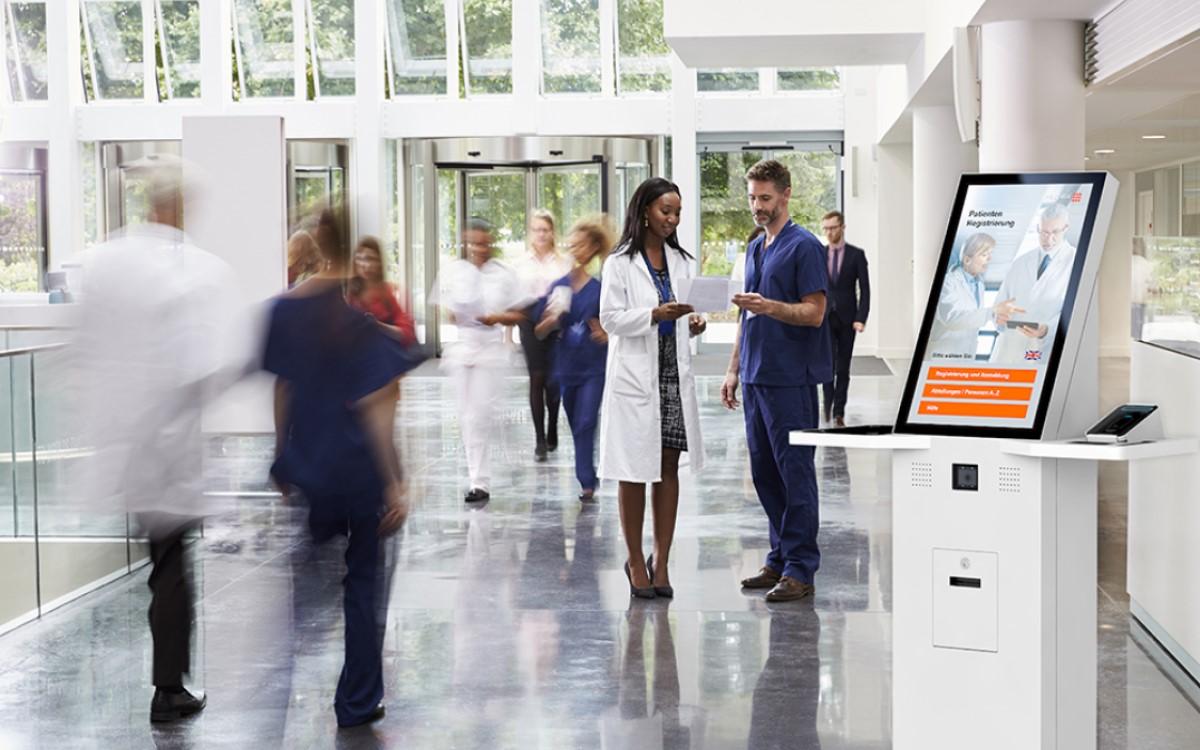 eKiosk unterstützt gemeinsam mit einem deutschlandweiten Partnernetzwerk die Digitalisierung von Kliniken (Foto: eKiosk)