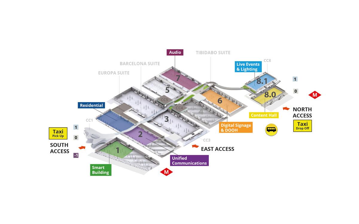 ISE 2022 Übersichtsplan (Foto: ISE)