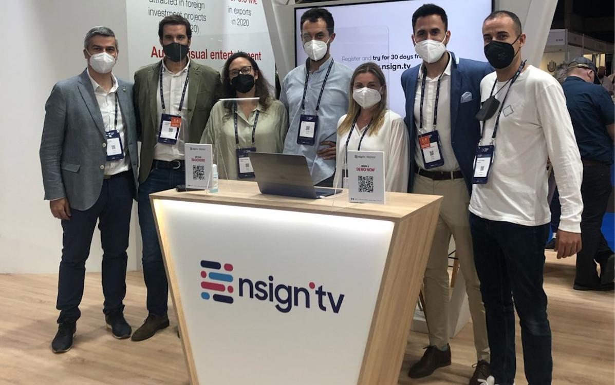 nsign.tv Team auf der ISE in Barcelona (Foto: nsign.tv)