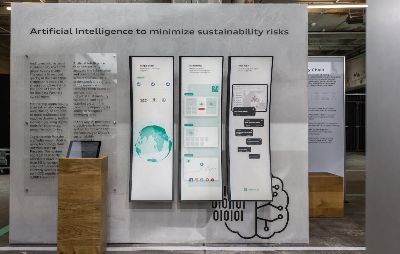 Nachhaltigkeit trifft Curved Displays - Audi GTF 2021 (Foto: Audi)