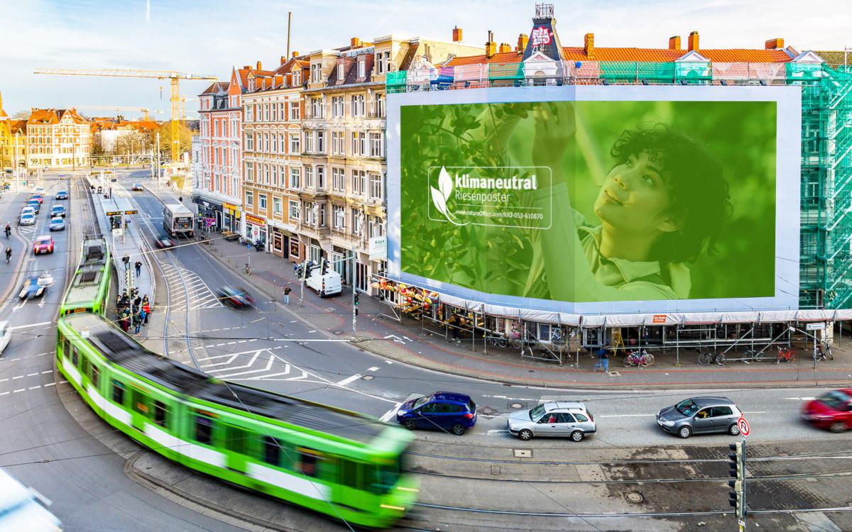 Ströer Blowup Media mit nachhaltigen Werbemittel (Foto: Ströer)