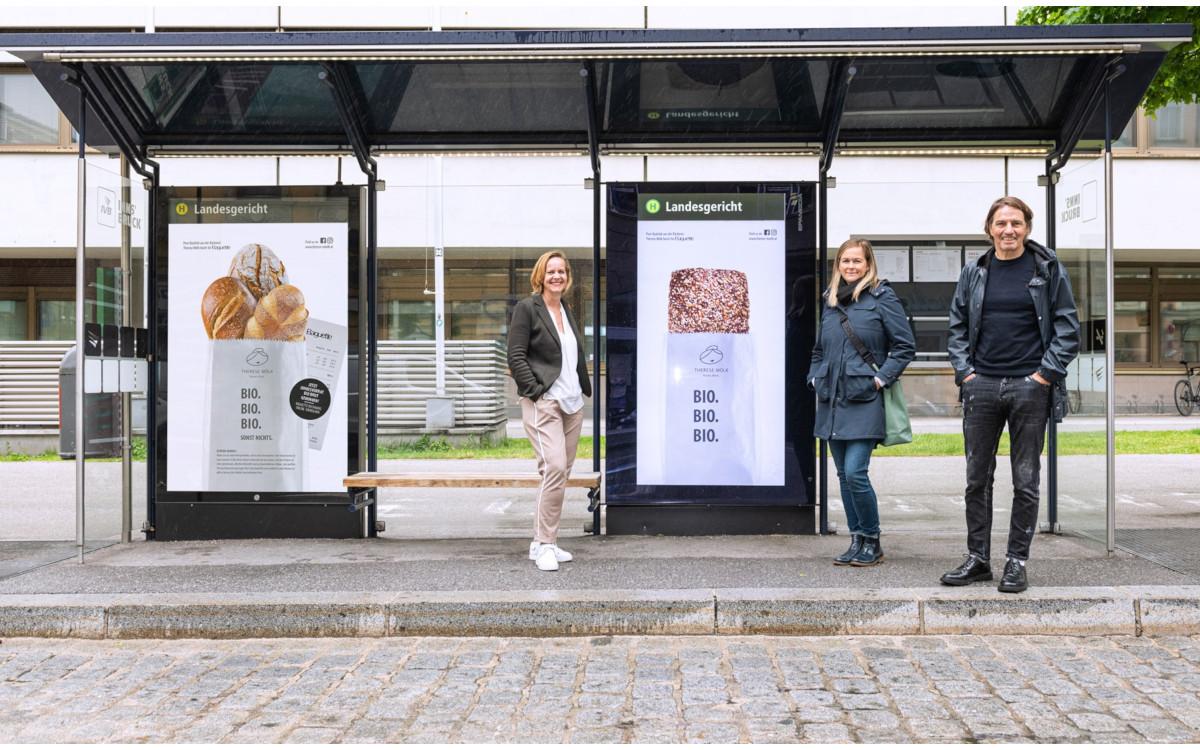 Biobrot-Kampagne in Tirol - analog und digital (Foto: Epamedia)