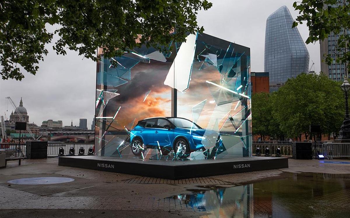 Nissan Launch-Kampagne in London (Foto: Talon)