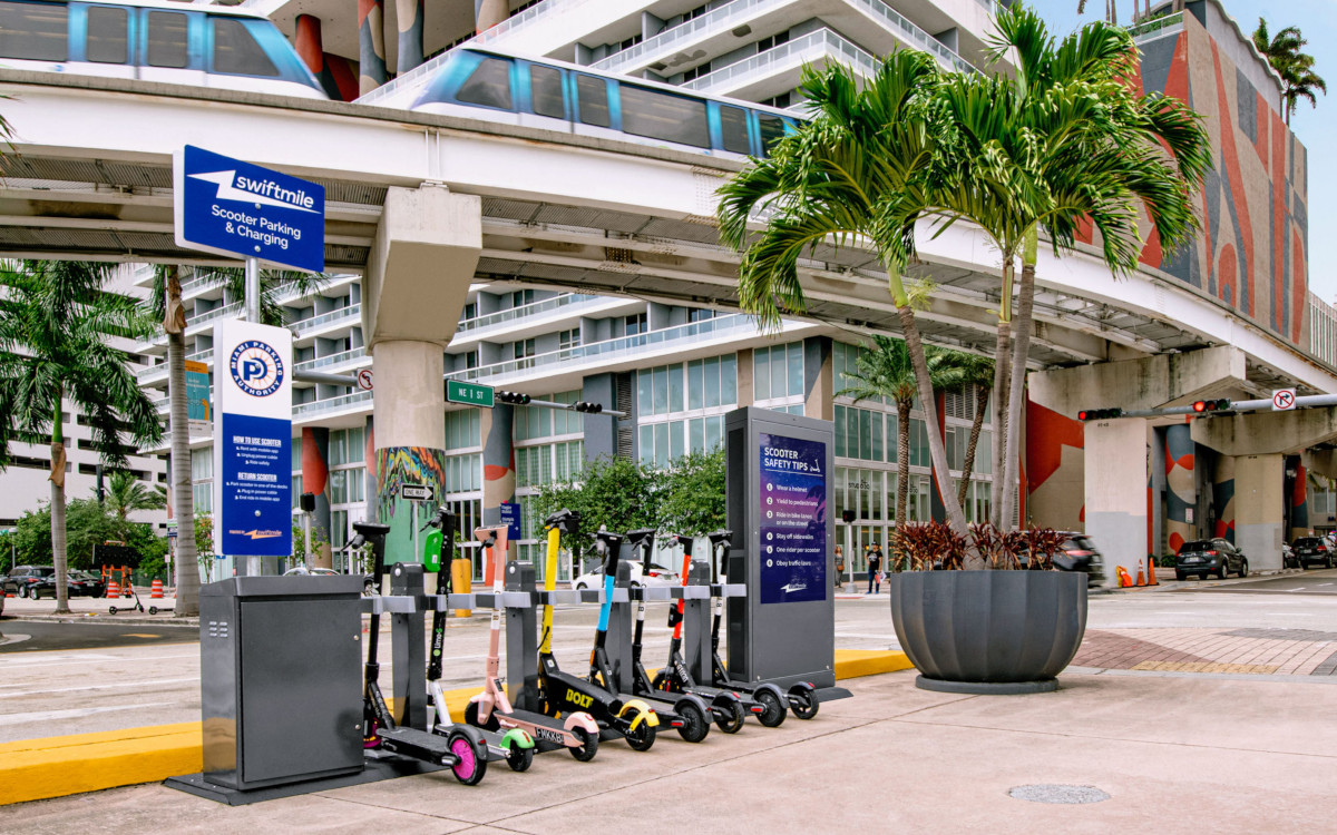 Swiftmile Hub sind bereits in Miami in Betrieb (Foto: Swiftmile)