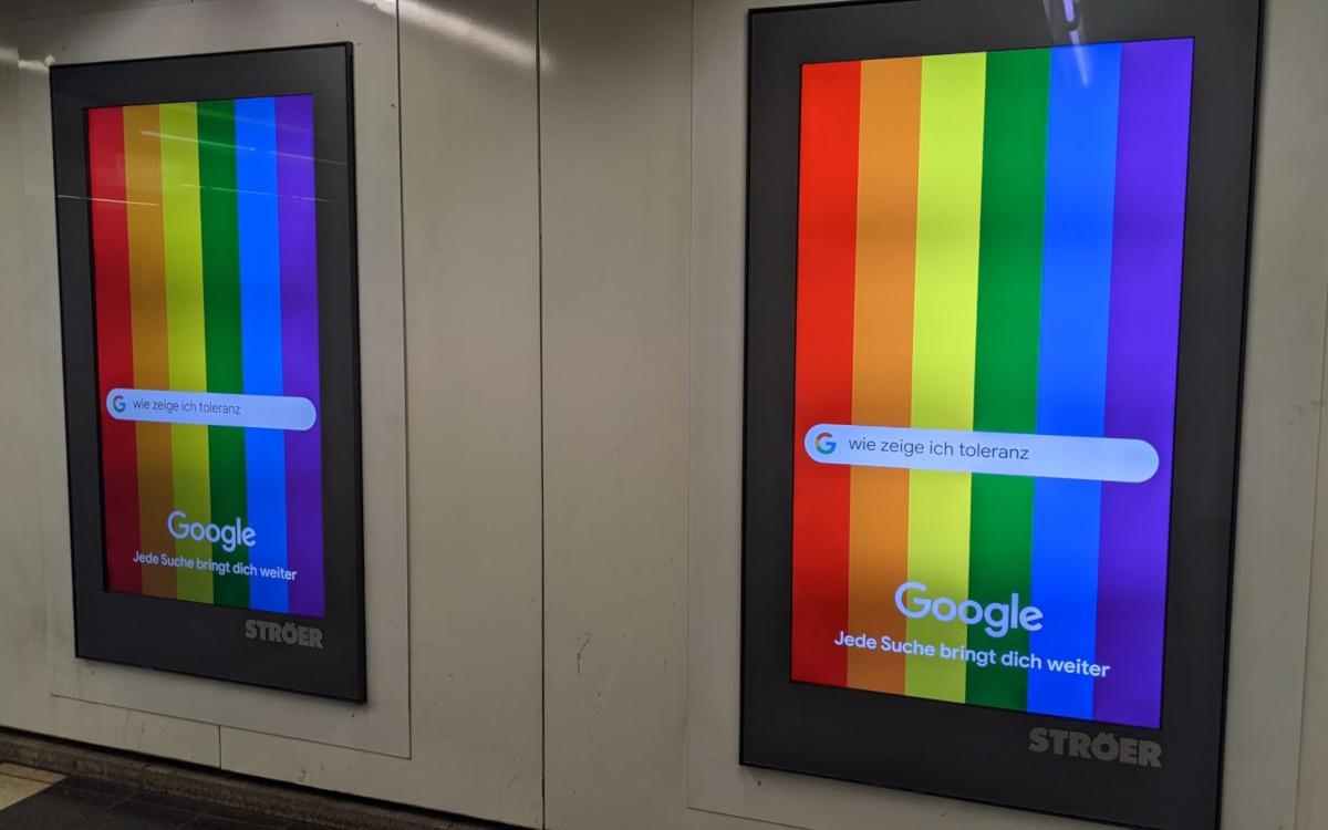 Google Diversity Kampagne in München (Foto: invidis)