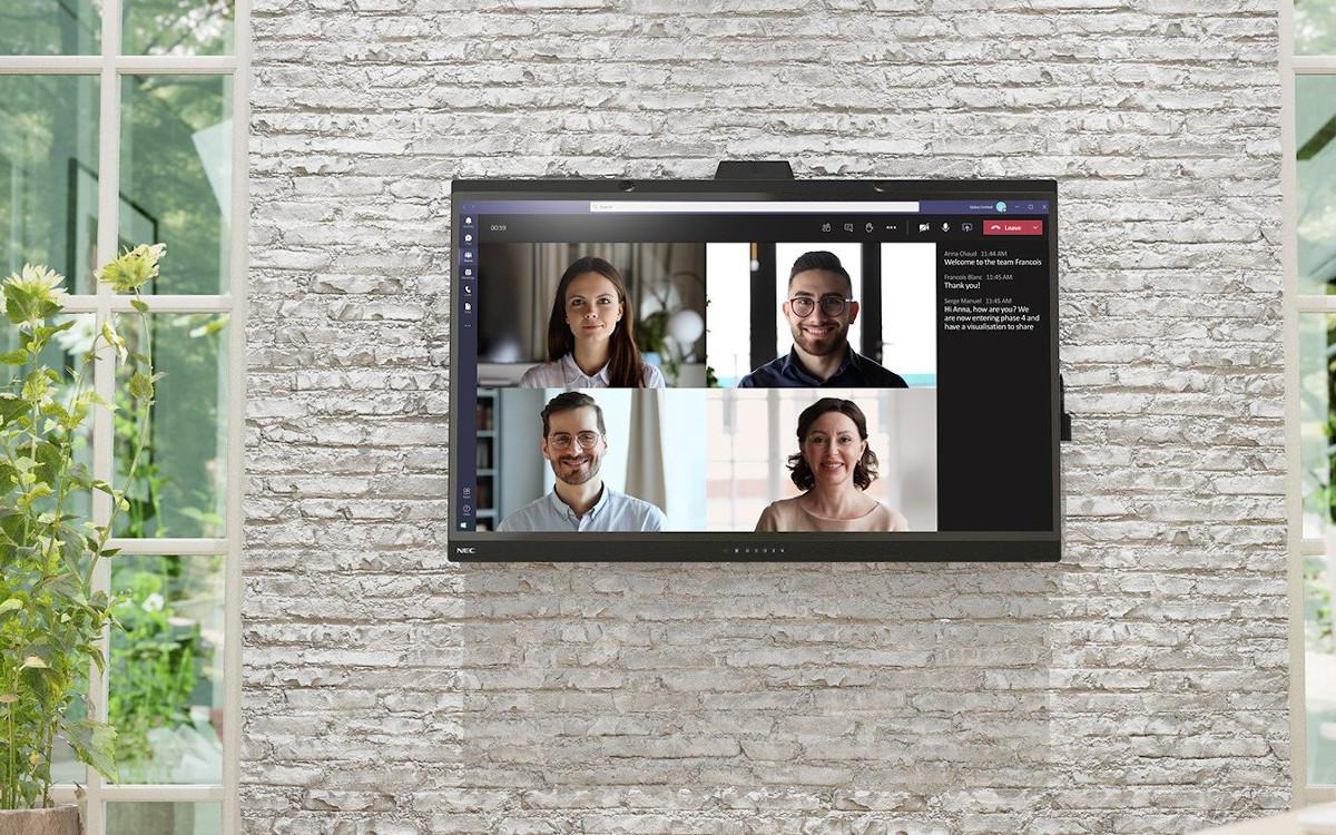 SharpNEC Microsoft -zertifizierte Huddle Corner Lösung WD 551 (Foto: Sharp NEC)