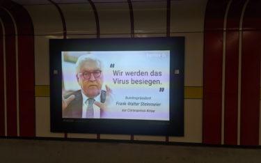 T-Online News auf Ströer DooH-Flächen (Foto: invidis)