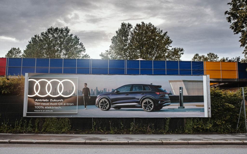 Audi und Epamedia lassen die Ringe pulsieren (Foto: Epamedia)