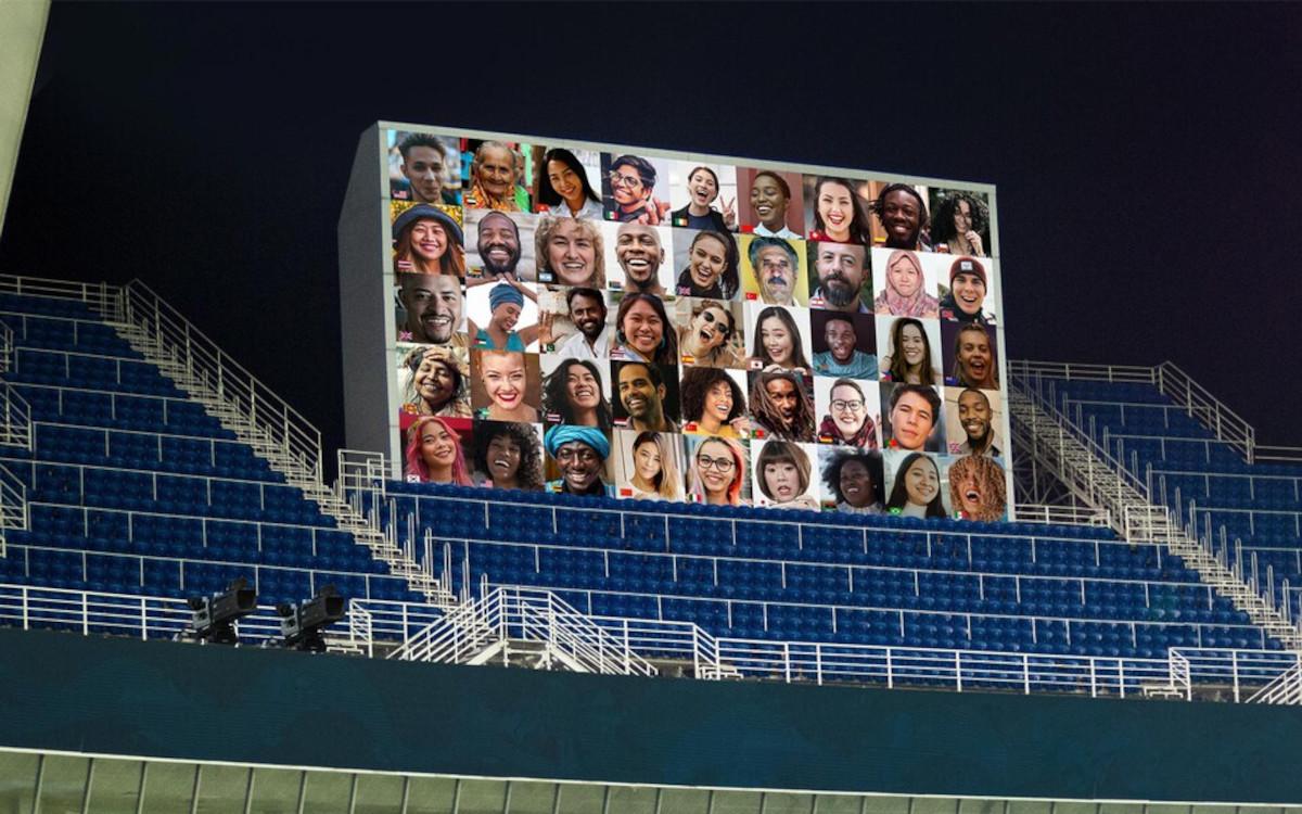 Über die großen Screens können Zuschauer die Athleten unterstützen. (Foto: OBS)