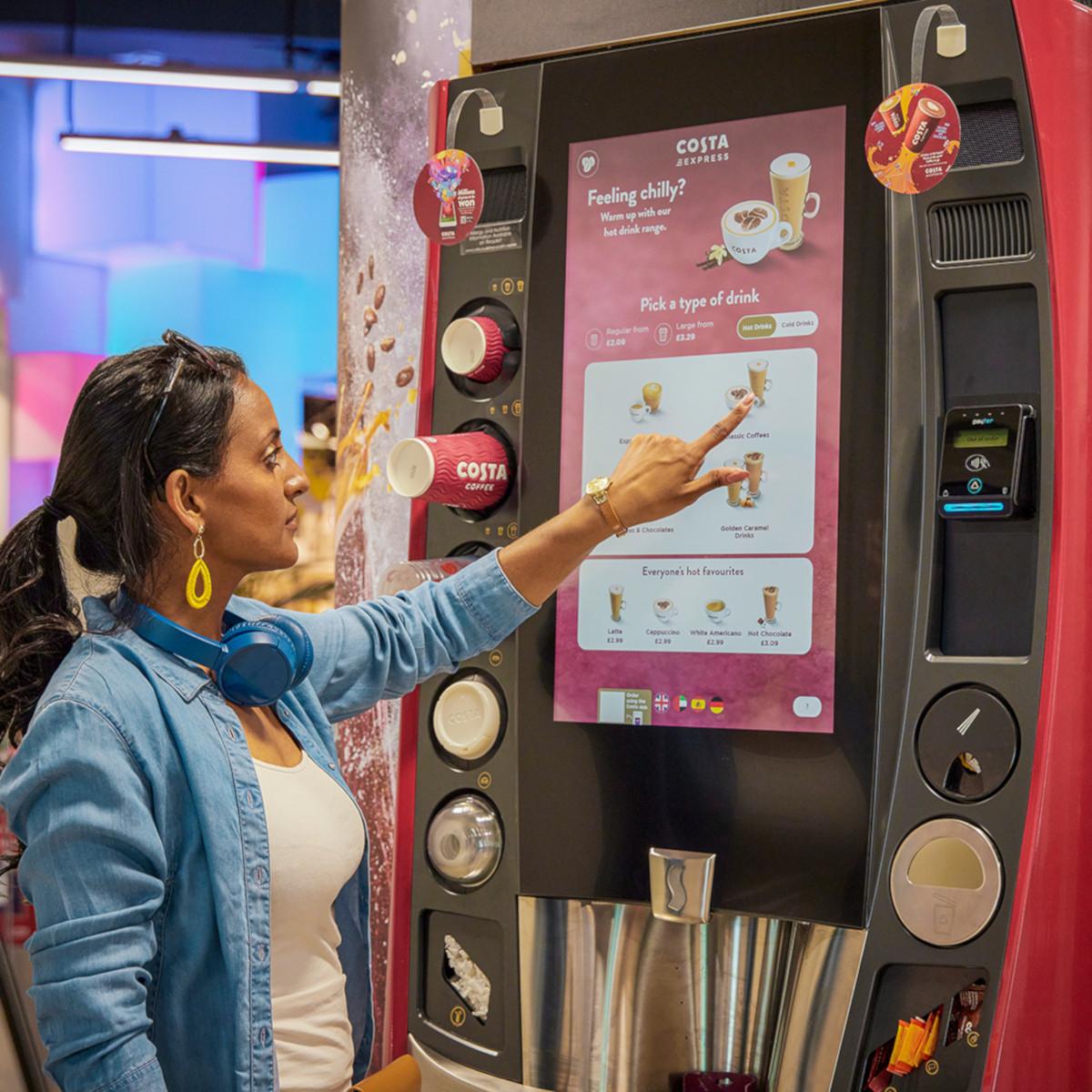 Costa Coffee Automaten mit großem Touchscreen (Foto: Coca-Cola)