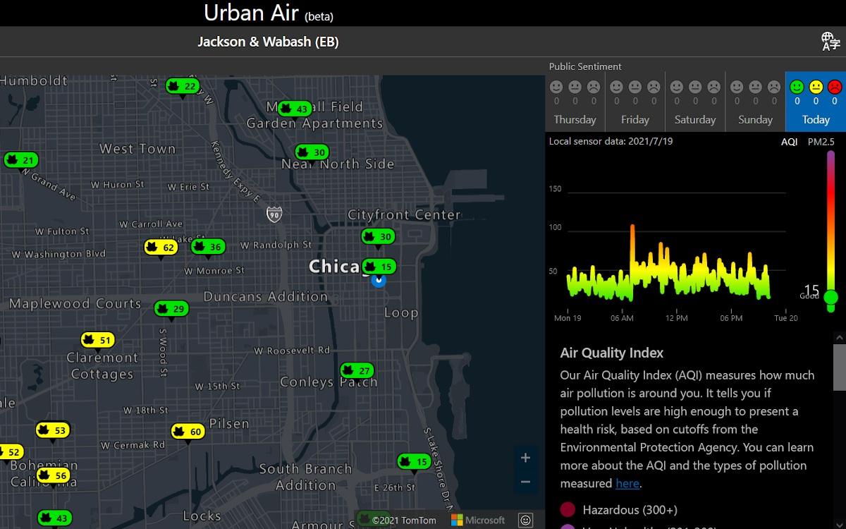 Luftqualität in Chicago - Microsoft Portal (Foto: Screenshot)