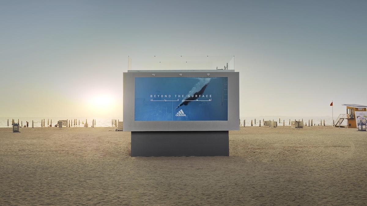 Adidas Liquid Billboard in Dubai (Foto: Screenshot)