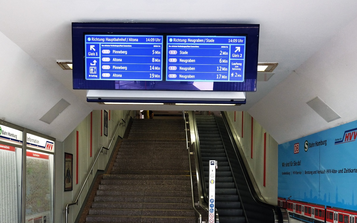 Neue Zugvoranzeiger in Hamburg (Foto: S-Bahn Hamburg)