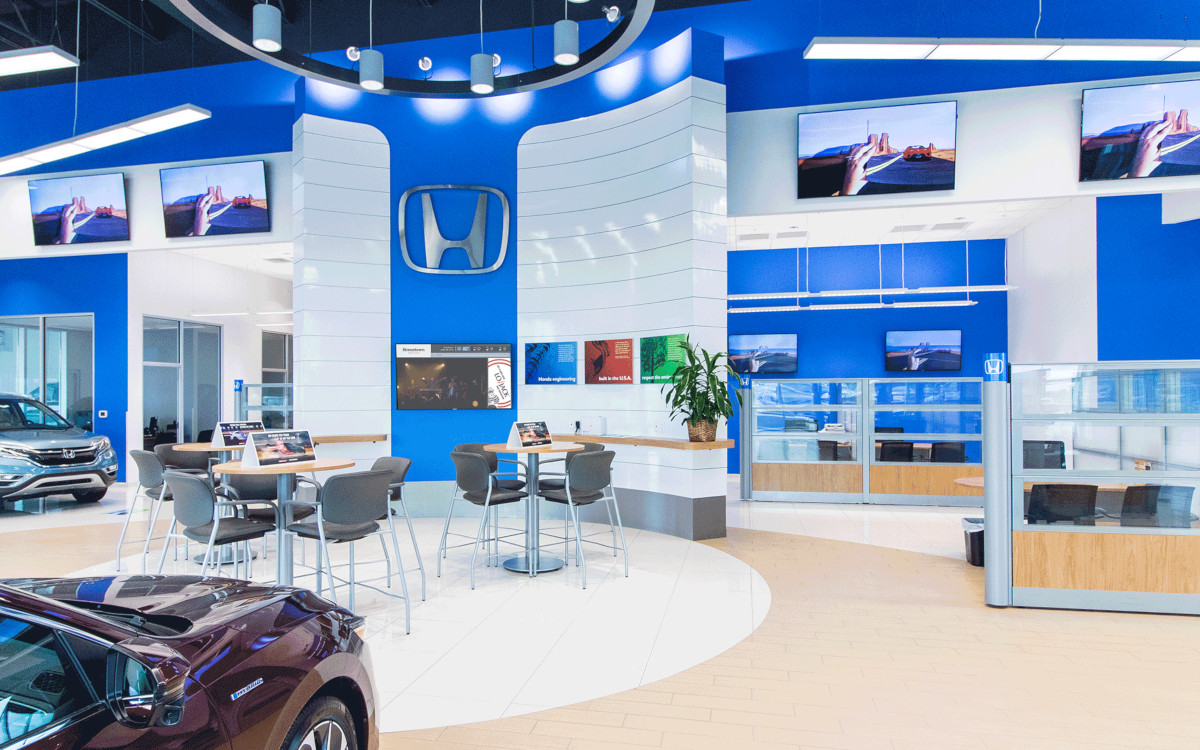ABN Screens in Honda Autohaus (Foto: ABN)