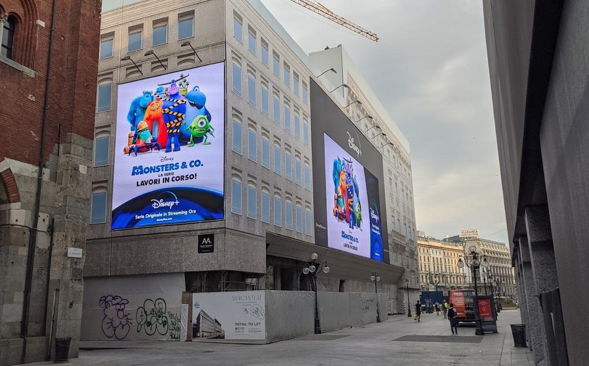 Disney DooH in der Mailänder Innenstadt (Foto: invidis)
