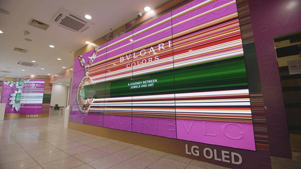 Bulgari Colors setzt auf LG OLED. (Foto: LG)