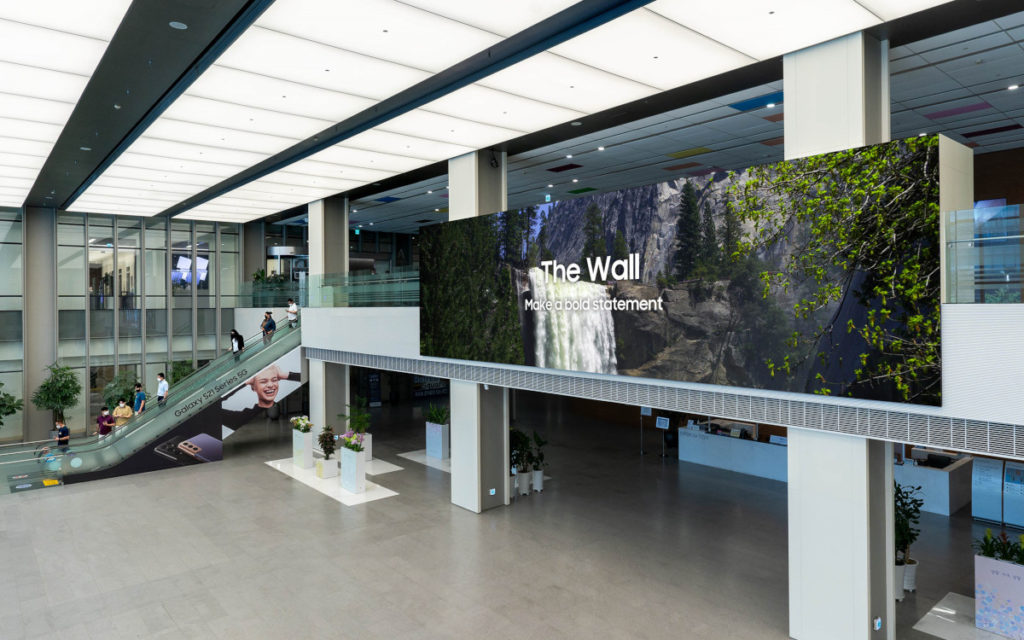 Samsung präsentiert The Wall 2021 (Bild: Samsung)