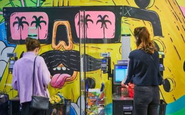 Kassenzone im Aldi Corner Store in Sydney (Foto: Aldi)