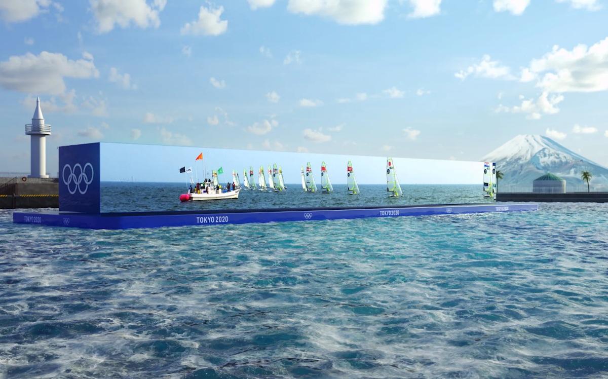Groß, größer, Olympia: 50m 12k LED-Display bei den Segelwettbewerben (Foto: Tokyo2020/NTT Docomo)