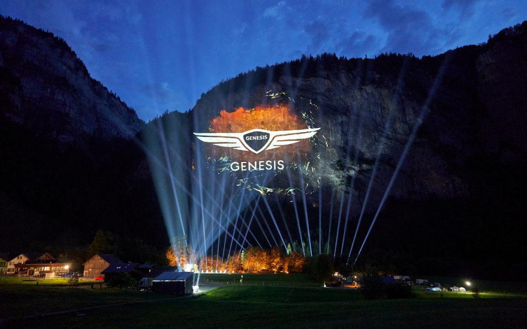 3D-Projektion zum Produktlaunch von Genesis in Europe (Foto: Genesis)