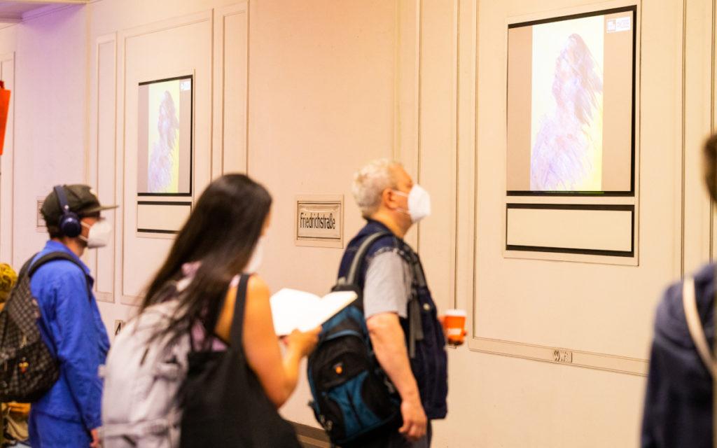 Die Kunstwerke bestanden aus kurzen Bewegtbildsequenzen. (Foto: Laessig/Wall GmbH)
