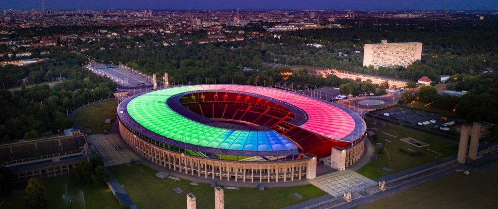 Die LED-Flutlichtanlage wurde bereits 2020 installiert. (Foto: Reiher & Seidel & Olympiastadion Berlin)