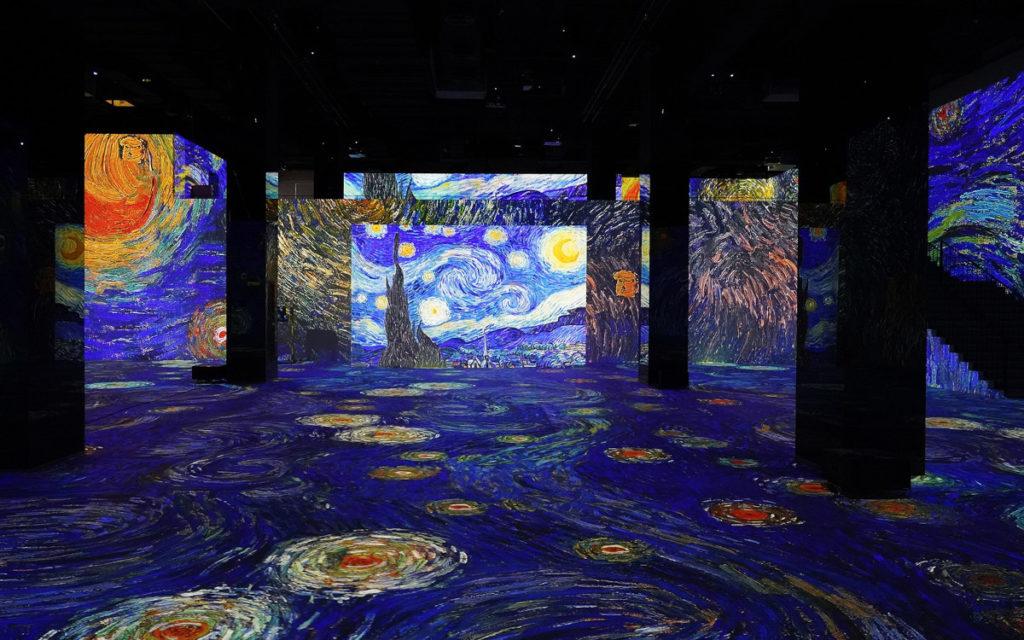 Ein anderer Teil beschäftigt sich mit dem Werk von Vincent van Gogh. (Foto: Infinity de Lumières)