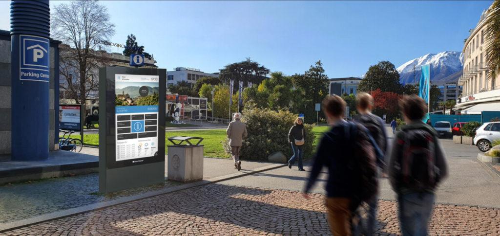 Die digitalen Screens ergänzen das OoH-Portfolio von Clear Channel in Locarno. (Foto: Clear Channel)