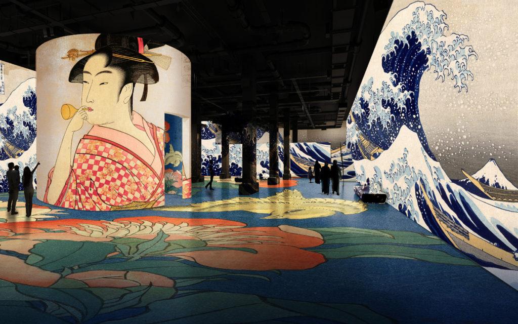 Eine Ausstellung entführt den Besucher in das Japan des 19. Jahrhunderts. (Foto: Infinity de Lumières)