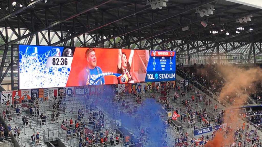 Ein weiteres Projekt von Daktronics im Sommer 2021: Display für den FC Cincinnati (Foto: Daktronics)