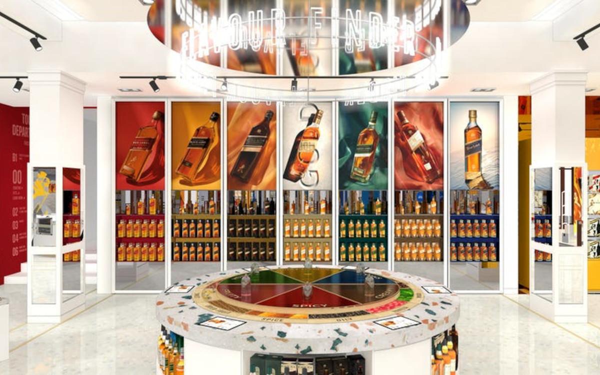 Johnnie Walker Princess Street bietet unter anderem eine interaktive Station, um den Whisky für den persönlichen Geschmack zu finden. (Foto: Diageo/Dalziel & Pow)