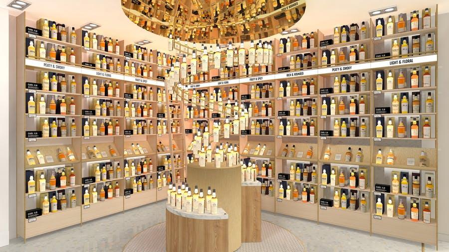 Johnnie Walker Princess Street führt eine große Auswahl an seltenen und exklusiven Whiskys. (Foto: Diageo/Dalziel & Pow)