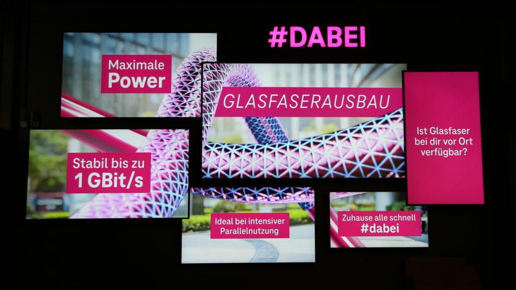 Beispiel eines Digital Signage-Walls der Deutschen Telekom. (Foto: MDT)