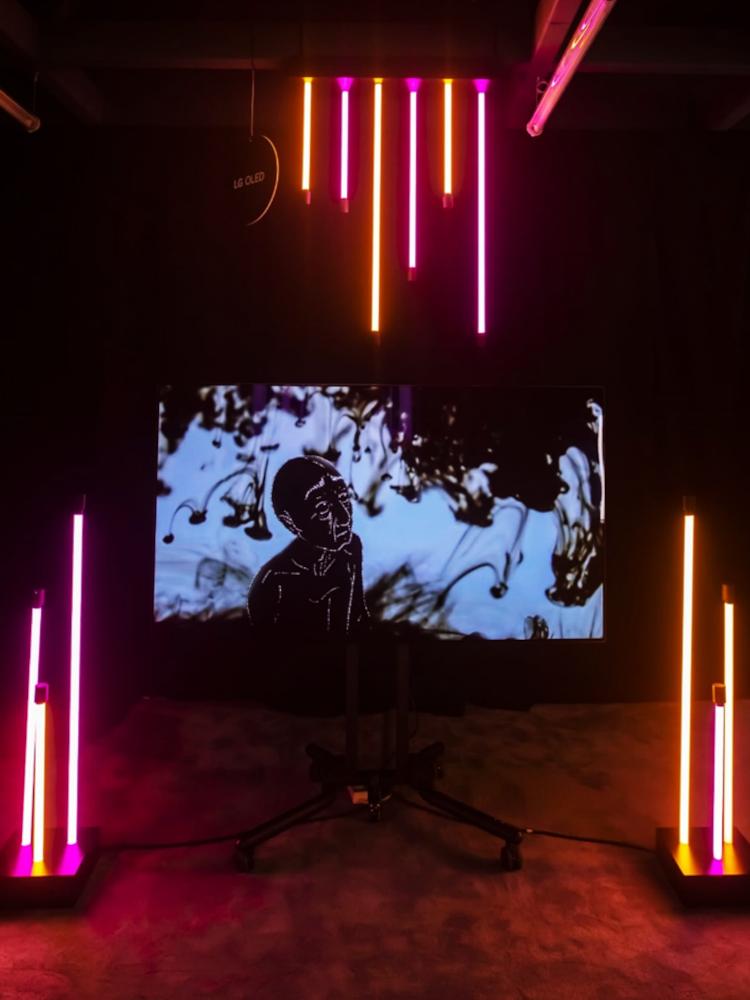 """Bei """"Ánima"""", einem Beitrag von Fátima Tamayo, handelt es sich um einen in schwarz gehaltenen Film über das Älterwerden. (Foto: LG)"""