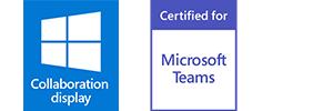 Eine Zertifizierung für MS Teams gilt immer für eine bestimmte Raumgröße. (Bild: Sharp/NEC)