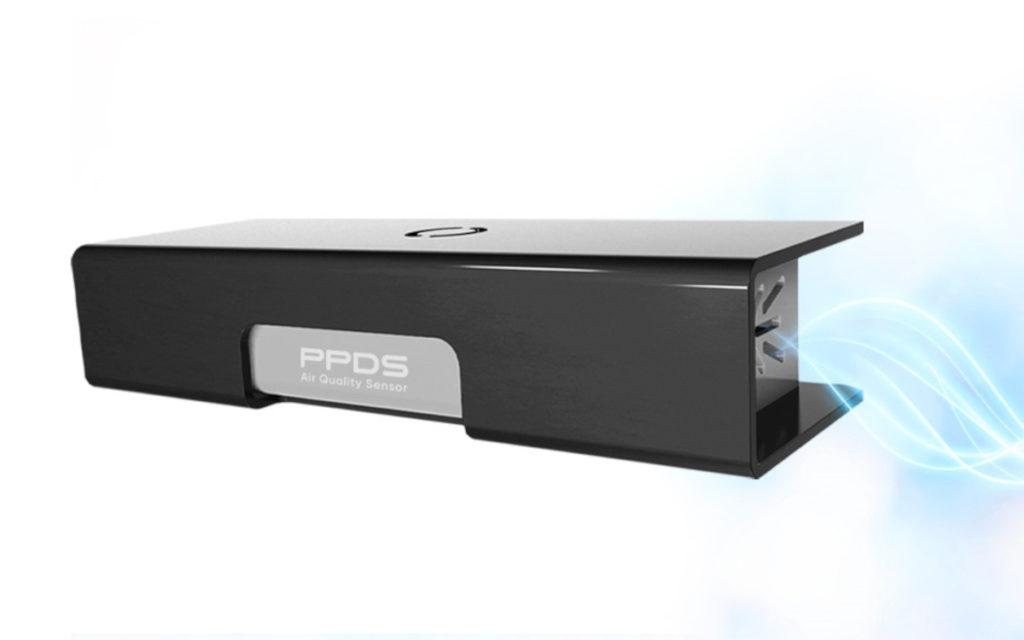 Per Befestigungsklammer lässt sich der Air Quality Sensor an PPDS-Geräten befestigen (Foto: PPDS)