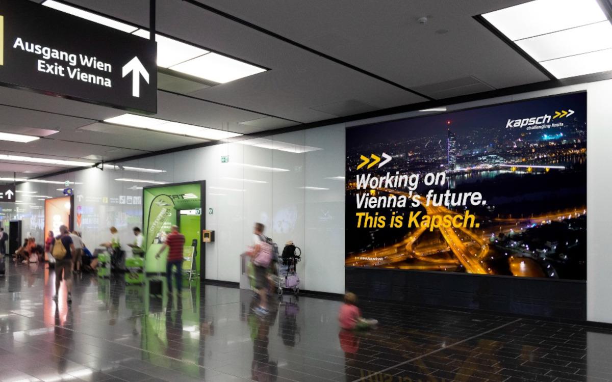 Mithilfe von Digital Signage will der Flughafen Wien eine Markendrehscheibe für internationales Reisepublikum bieten. (Foto: Flughafen Wien AG/Airport Media)
