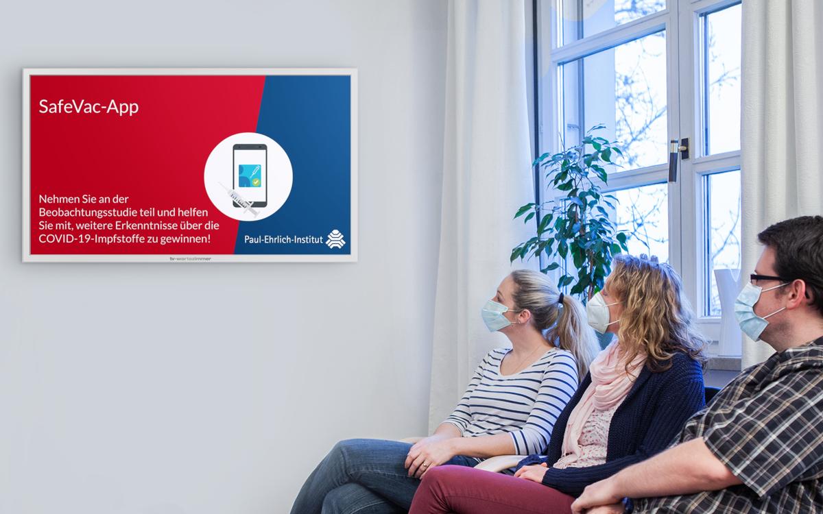 Das Erklärvideo zur App Safe Vac 2.0 wird im Juli im TV-Wartezimmer-Netzwerk ausgespielt. (Foto: TV-Wartezimmer)