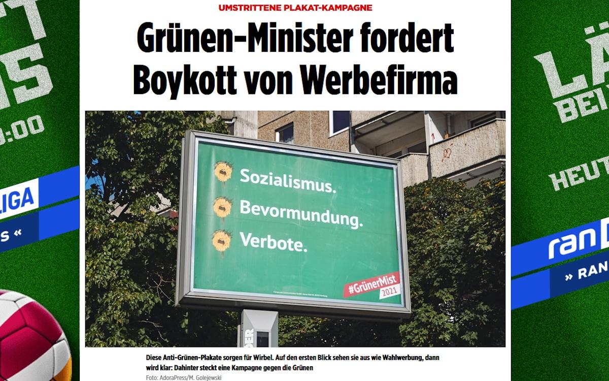 Ströer gerät zwischen die Parteifronten (Foto: Screenshot bild.de)