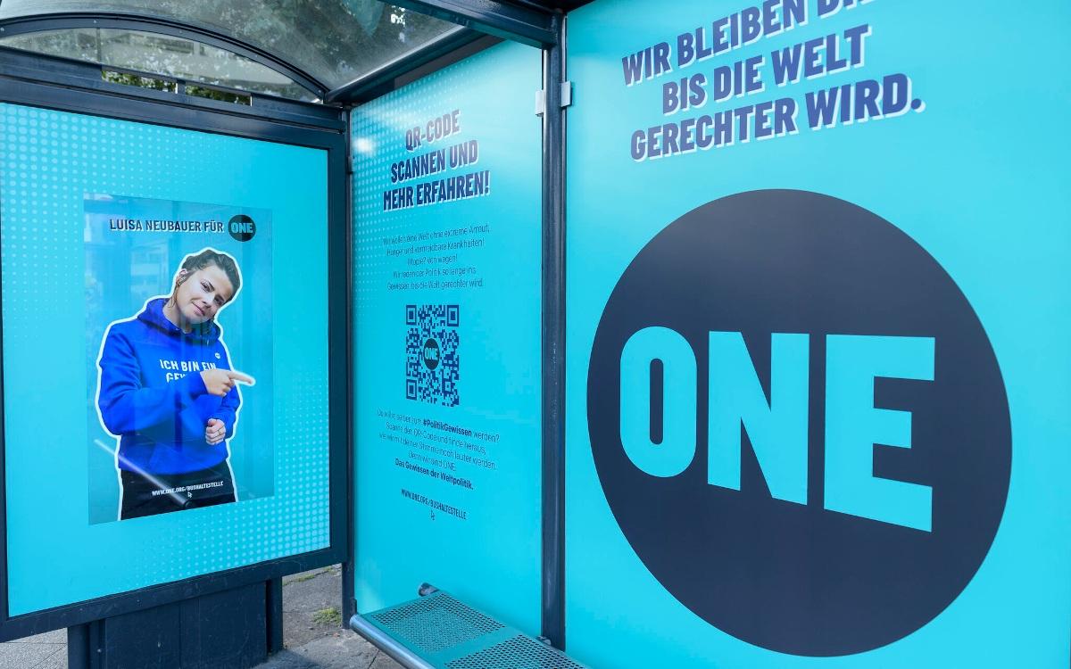 One Vote 21 wirbt für Nachhaltigkeit auf Dooh -Screens von All (Foto: Wall)