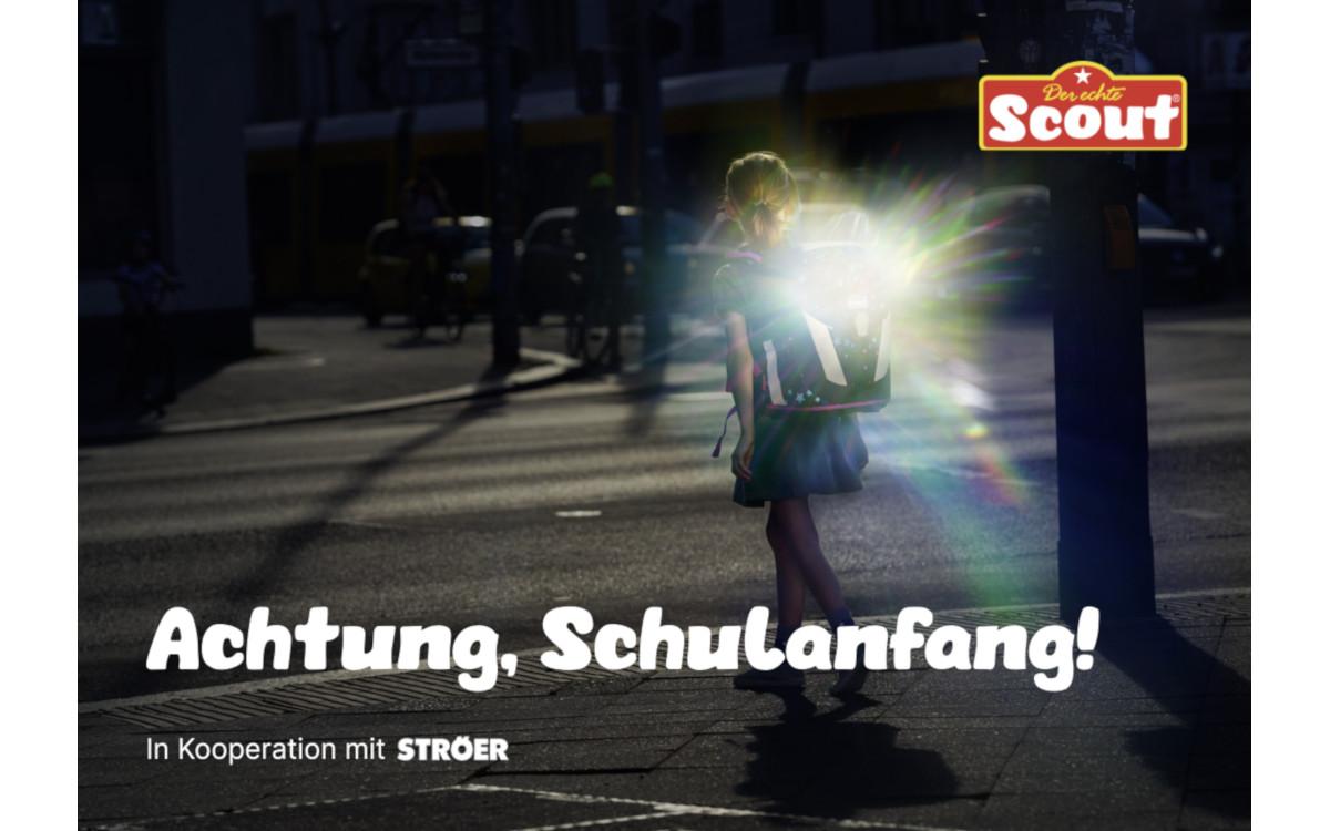 Scout-Kampagne zum Schulanfang auf Stöer LED (Foto: Scout)